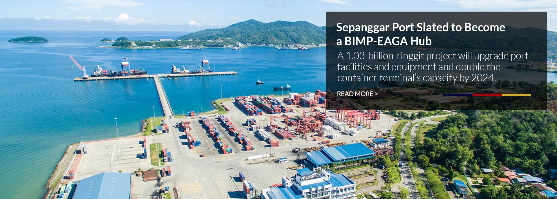 Sepanggar Port aerial view