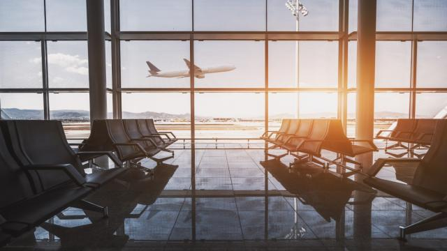 Empty airport. Photo credit: iStock/skyNext.